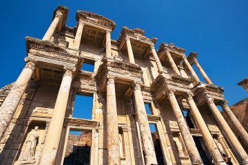 Library-of-Celsus-is-an-ancient-Roman-building-Ephesus-ancient-Greek-city-Selcuk-Turkey