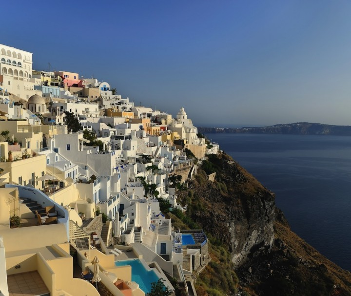 Oia Village and Fira Town