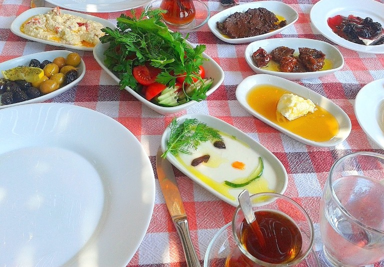 Turkish food dishes